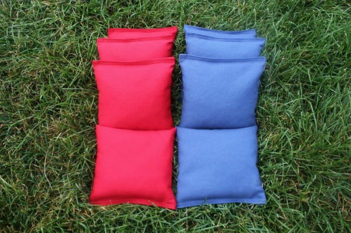 Solid Color Cornhole Bags - 8 solid bags
