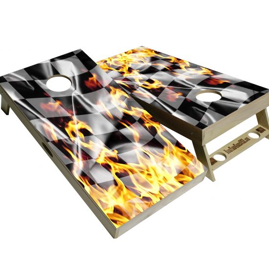 Fire flame cornhole boards