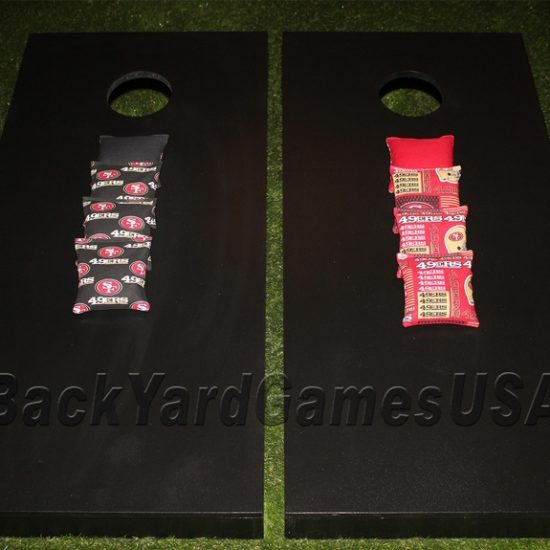 49ers Black Color- Cornhole Boards