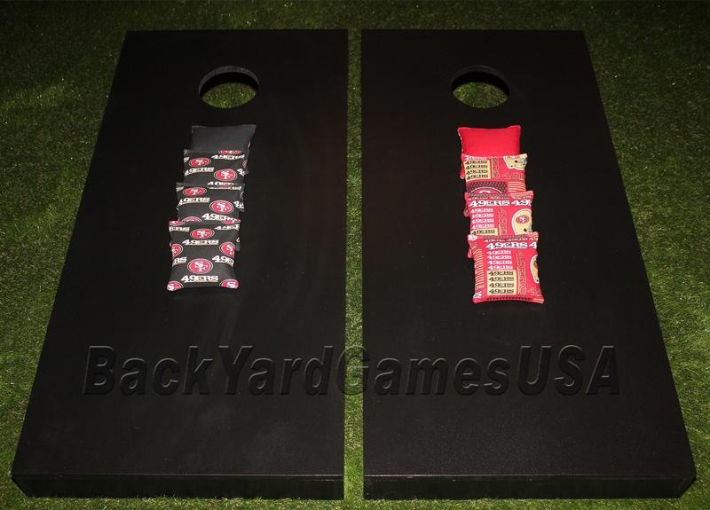 49ers Black Color- Cornhole Boards
