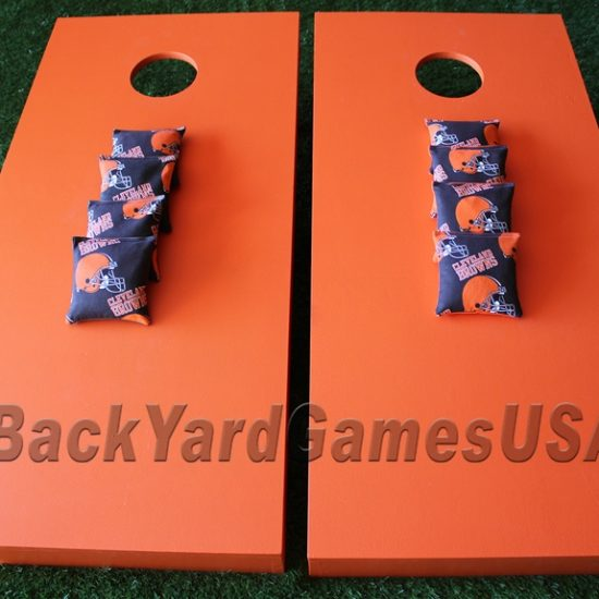 Browns Orange Color - Cornhole Boards
