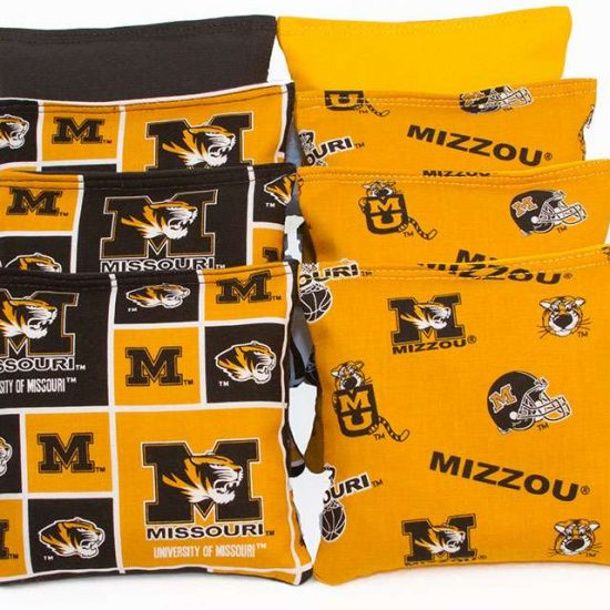 MISSOURI TIGERS Cornhole bags - Set of 8 Bags